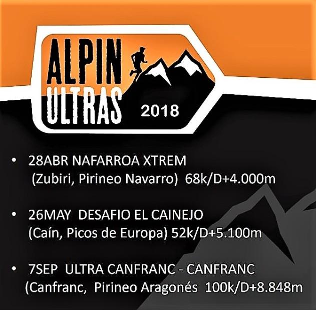 Calendario Carreras Montaña Alpinultras 2018